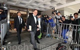 """香港前行政长官(特首)曾荫权被裁定一项""""公职人员行为失当罪""""罪名成立,该案将在周三(22日)上午10时宣判。(蔡雯文/大纪元)"""