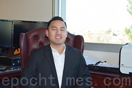 苗必达新任市长陈理查(Richard Tran)。(梁博/大纪元)