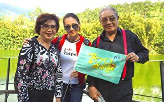 《700岁旅程》演员王满娇、张本渝、丁强日前抽空开团带粉丝到宜兰一游。(台视提供)