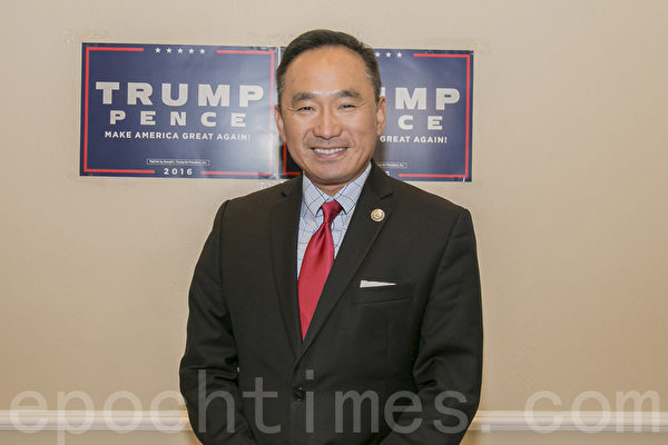 川普(特朗普)在旧金山湾区的竞选经理郭宗政。(曹景哲/大纪元)