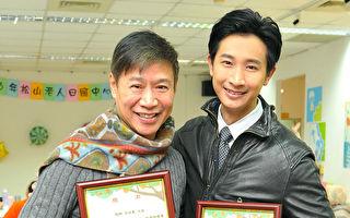 圖為邱凱偉(左)與朱陸豪。(台視提供)