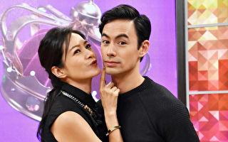 Janet(左)日前与夫婿George(右)一起参加节目录影。(卫视中文台提供)