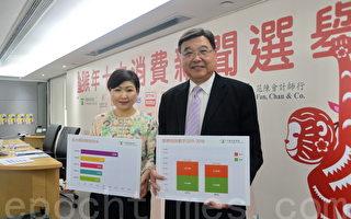 消委会总干事黄凤娴(左)、消委会主席黄玉山教授(右)。(宋祥龙/大纪元)