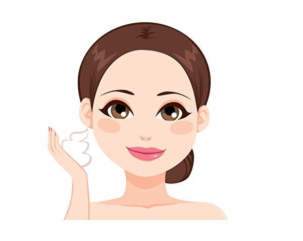 如何洗臉才乾淨又正確。(大紀元製圖)