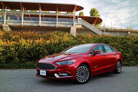 2017 Ford Fusion Energi。〈李奥/大纪元〉