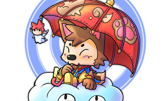 狐小子是刘明昆在漫画中的代言人。(刘明昆提供)