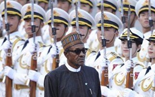 """奈及利亚近日与中共签署坚持""""一中原则""""联合声明。图为奈及利亚总统去年4月赴陆。/AFP"""