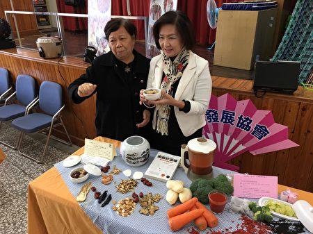 罗东镇举办长照2.0养生美食餐点敎学活动。(罗东镇公所提供)