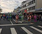 在冬山街上踩街,拉开2017欢乐宜兰年 序幕。(宜兰县政府提供)