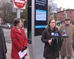 LinkNYC总经理Jen Hensley表示,LinkNYC很高兴能免费提供网络数据。 (奥利弗/大纪元)