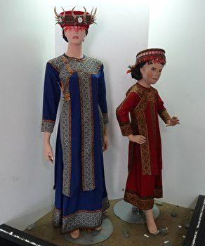 鲁凯族妇女服饰。(曾晏均/大纪元)