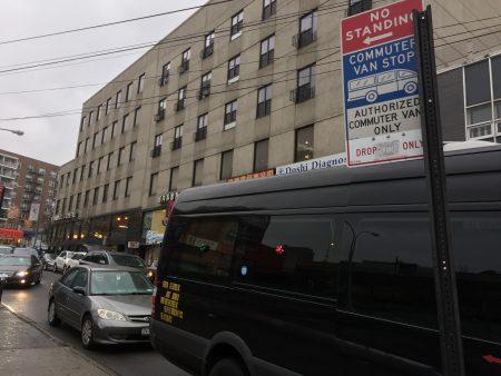 法拉盛41大道的华人小巴站1月6日起迁往三福大道靠缅街一侧。