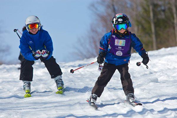 在雪场可以见到很多儿童。(Mount Snow提供)