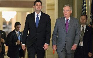 美國第115屆國會將在1月3日開議,握有國會參眾兩院多數席次的共和黨,將主導議題,粉碎奧巴馬總統八年任內的議程。圖左為瑞安議長、圖右為參議院多數黨領袖麥康奈爾。(Chip Somodevilla/Getty Images)