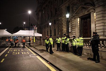倫敦警方加強安檢。(Jack Taylor/Getty Images)