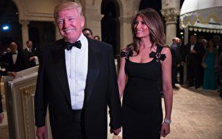 週六晚,美國新當選總統川普(特朗普)在其佛州私人俱樂部舉行特別跨年夜晚會。(DON EMMERT/AFP/Getty Images)