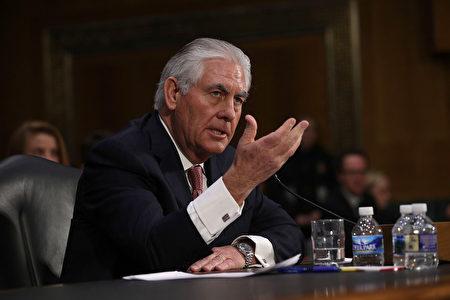 美国国务院一位高级官员周五(3月24日)表示,国务卿蒂勒森下周将会前往布鲁塞尔参加3月31日举行的北约峰会。 (Alex Wong/Getty Images)