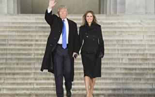 川普携夫人抵达音乐会现场,全场欢声雷动。(Chris Kleponis-Pool/Getty Images)