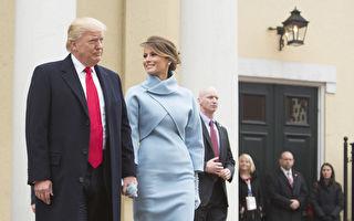 1月20日,川普宣誓就职成为美国第45任总统,一直陪伴在侧的模特妻子梅兰妮亚以一身粉蓝色洋装亮相。(Chris Kleponis - Pool/Getty Images)