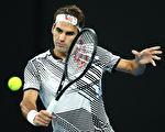 35岁的瑞士球王费德勒生涯第6次打入澳网男单决赛。(Clive Brunskill/Getty Images)