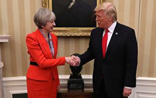1月27日,英國首相特里莎.梅受邀訪問白宮,展開重新恢復兩國特殊關係的會談。(Christopher Furlong/Getty Images)