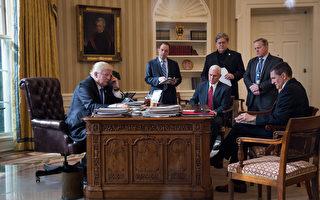 白宮記者協會週二(28日)發表聲明說,為了支持川普(特朗普),白宮工作人員將不參加4月29日舉行的白宮記者協會晚宴。(Drew Angerer/Getty Images)