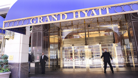 凯悦大酒店(Grand Hyatt)(KAREN BLEIER/AFP/Getty Images)