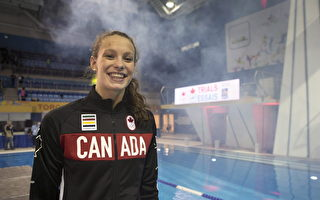 里约奥运金牌得主、加拿大游泳健将奥莱克夏克力挺不要关闭公共游泳池。(加通社)