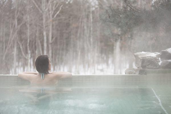 室外热水池。(波可诺景区提供)