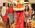 Telstra團隊在麥覺理西苑購物商場與醒獅共迎中國新年。/(商家提供)