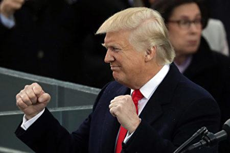 川普(特朗普)1月20日宣誓就职,成为美国第45任总统,标志着川普时代的开始。(Photo by Chip Somodevilla/Getty Images)