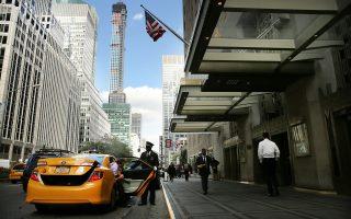曾經作為紐約地標之一的華爾道夫酒店(Waldorf Astoria),眼看就要成為歷史。 (Spencer Platt/Getty Images)
