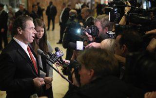 在与川普会见以后,库默表示见面的气氛不对立。 ( John Moore/Getty Images)