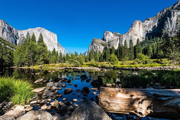 优胜美地(Yosemite NationalPark)的U型山谷,是冰川侵蚀作用形成的谷地。(Shutterstock)
