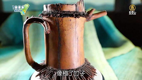 林松本老师作品─隐生竹根壶。(新唐人亚太台提供)