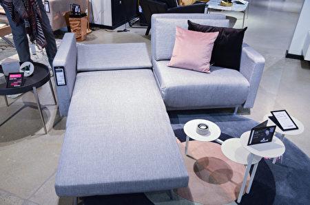 BoConcept可展开、收折的沙发床。(湾区家居BoConcept提供)