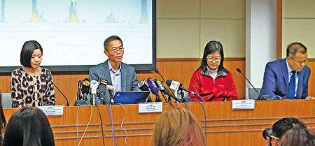政府多個部門昨日舉行聯合簡報會,指禽流感風險上升,短期內會引入病毒快速測試。(李逸/大紀元)