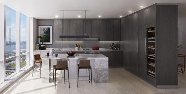 15 Hudson Yards室内装潢Contrast风格概念图。(Related-Oxford提供)