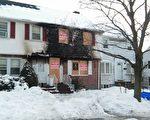 遭火灾的摩顿共有公寓,导致一对华人老夫妇不幸丧生。(岳定明/大纪元)