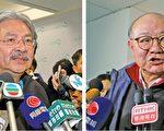 行政長官參選人曾俊華(左圖)和胡國興,昨日分別拜訪不同政黨及界別選委爭取提名。(李逸、蔡雯文/大紀元)