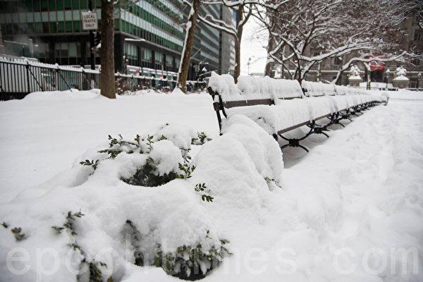 纽约市9日暴风雪来袭,降雪量预计将达六吋至12吋,风速将达35~40哩/小时。