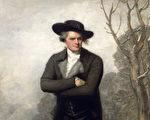 《滑冰者(威廉.葛兰德肖像)》(Le Patineur (Portrait de William Grant))局部,吉伯特.史都华于1782年作。(维基百科)
