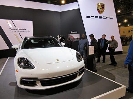 2017年保時捷(Porsche)Panamera 4 E-Hybrid Execitive 。(童雲/大紀元)