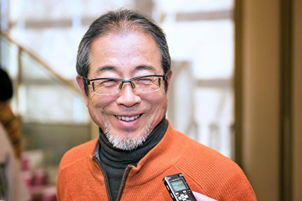 """经营房地产管理的堀田茂雄(Shigeou Horita)观看神韵演出后表示:""""演出洋溢着中国文化的传统要素。在舞台和艺术表现方式上,气势宏大,是不容错过的演出。""""(野上浩史/大纪元)"""