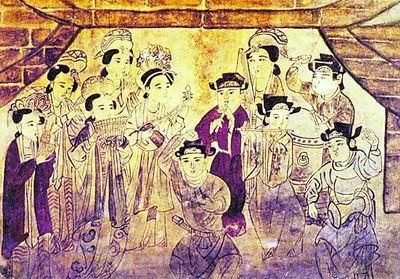 白沙一号宋墓乐舞壁画。(公有领域)