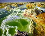 埃塞俄比亞達納吉爾凹地達洛爾附近硫磺湖。(Carl Court/Getty Images)