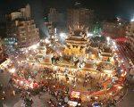 台湾灯会北港朝天宫的LED灯光雕。(廖素贞/大纪元)
