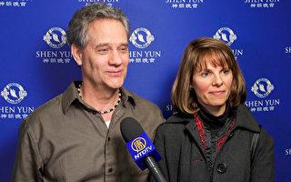 2017年2月8日,Tim Pedigo和Karen Pedigo夫婦在美國芝加哥南郊的大學園州長州立大學表演藝術中心(Center for Performing Arts)觀賞了神韻。(新唐人電視台)