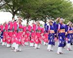 日本高知县夜来祭表演团队。(云林县府提供)