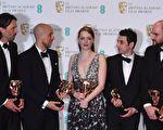 """《乐来越爱你》(又译:爱乐之城)在第70届""""英国奥斯卡""""英国影艺学院电影奖中包揽5奖,为大赢家。 (BEN STANSALL/AFP/Getty Images)"""